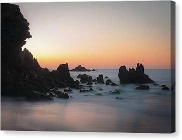 Rocky Sunrise Canvas Print
