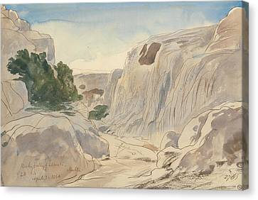Rocky Valley Of Mosta, Malta, Two-fifteen P.m. Canvas Print