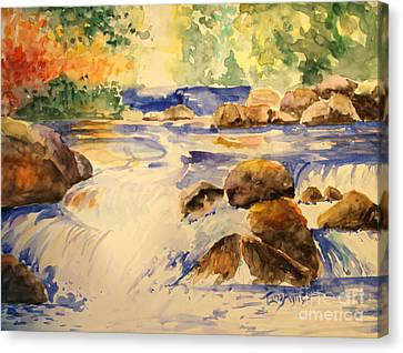 Canvas Print - Rocky Waterfall by Tina Sheppard