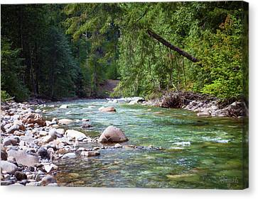 Rocky Waters In The North Cascades Landscape Photography By Omas Canvas Print by Omaste Witkowski
