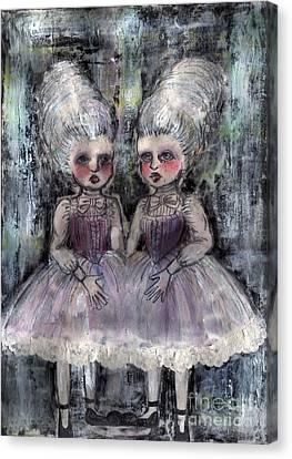 Rococo Twins Canvas Print by Akiko Okabe