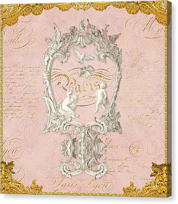 Rococo Versailles Palace 1 Baroque Plaster Vintage Canvas Print by Audrey Jeanne Roberts