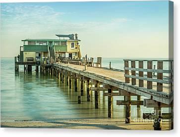 Rod And Reel Pier, Anna Maria Island In Florida Canvas Print