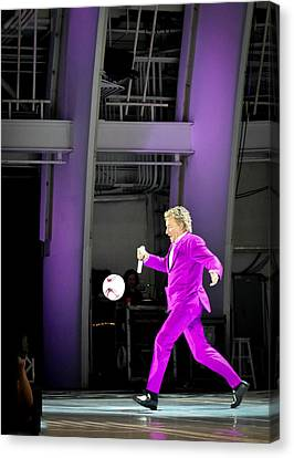 Rod Stewart Soccer Ball Canvas Print