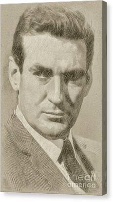 Noir Canvas Print - Rod Taylor, Actor by Frank Falcon