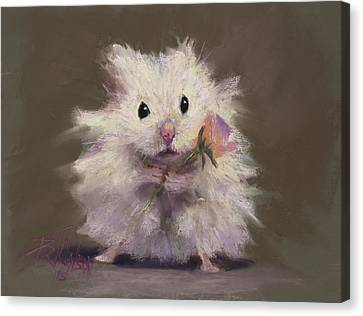 Gerbil Canvas Print - Rodent Romance by Billie Colson