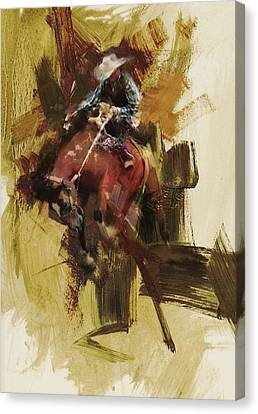 Rodeo 23 Canvas Print by Maryam Mughal
