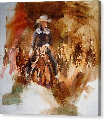 Rodeo 26 Canvas Print by Maryam Mughal