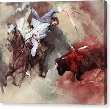 Rodeo 43b Canvas Print by Maryam Mughal