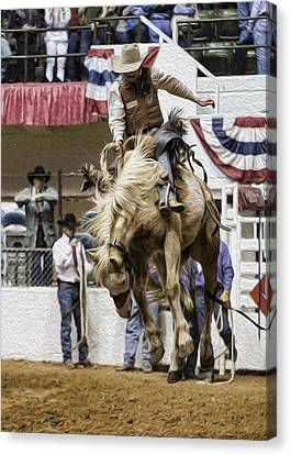 Rodeo Air Time Canvas Print by Stephen Stookey