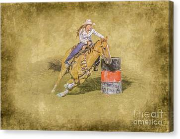 Rodeo Barrel Racing Canvas Print