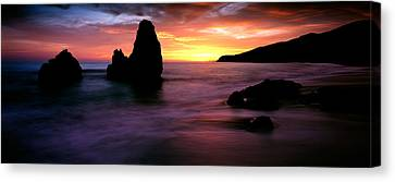 Rodeo Beach At Sunset, Golden Gate Canvas Print by Panoramic Images