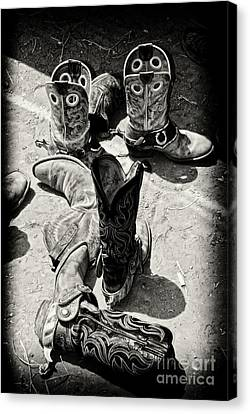 Rodeo Boots And Spurs Canvas Print by Gus McCrea