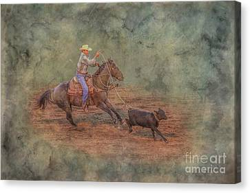 Rodeo Calf Roping Canvas Print