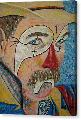 Rodeo Clown Canvas Print by Denise Landis