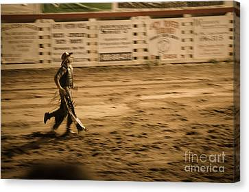 Rodeo Cowboy Canvas Print