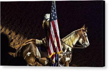 Rodeo Patriotism Canvas Print by Stephen Stookey