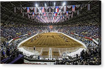 The Horse Canvas Print - Rodeo Time In Texas by Stephen Stookey
