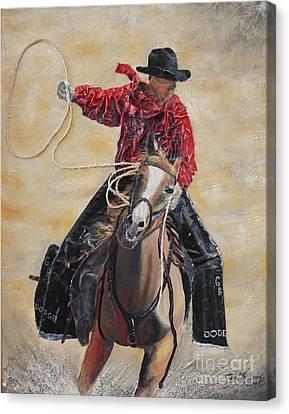 Rodeo Ye-hah Canvas Print by Terri Thompson