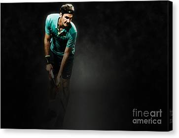 Rodger Federer Canvas Print