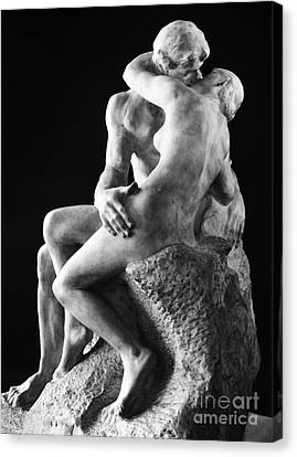 Rear View Canvas Print - Rodin: The Kiss, 1886 by Granger