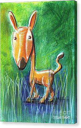 Roe Deer For Children Pastel Chalk Drawing Canvas Print