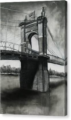 Roebling Bridge Canvas Print - Roebling Bridge by Alison Shepard
