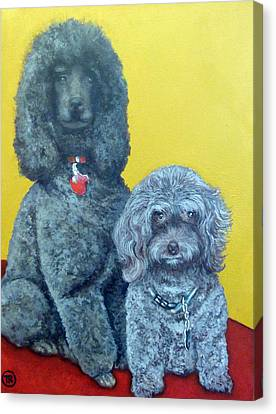 Roger And Bella Canvas Print by Tom Roderick