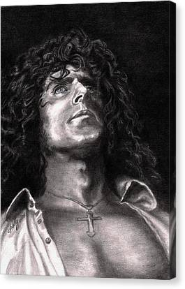 Roger Daltry Canvas Print by Kathleen Kelly Thompson