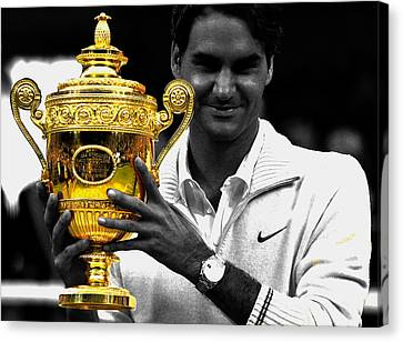 Roger Federer 2a Canvas Print by Brian Reaves