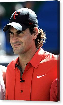 Roger Federer In Attendance For Arthur Canvas Print