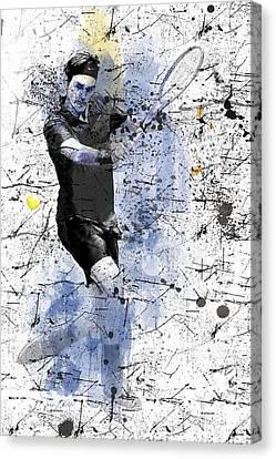 Roger Federer Canvas Print by Marlene Watson