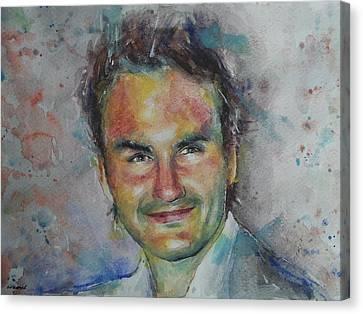 Roger Federer - Portrait 10 Canvas Print
