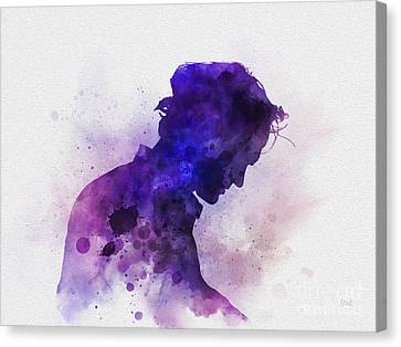 French Open Canvas Print - Roger Federer by Rebecca Jenkins