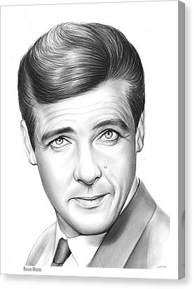 Roger Moore Canvas Print by Greg Joens