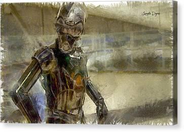 Armor Canvas Print - Rogue One 3b6-7 Threebee - Pa by Leonardo Digenio