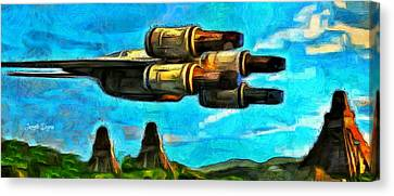 Rogue One And The Pyramides - Pa Canvas Print by Leonardo Digenio