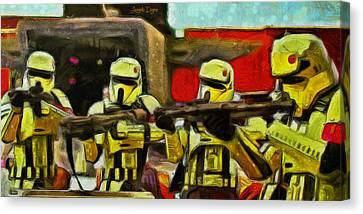 Rogue One Arrested - Da Canvas Print by Leonardo Digenio