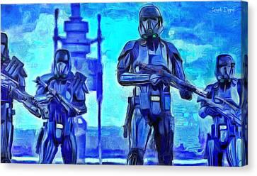 Rogue One Death Trooper - Da Canvas Print