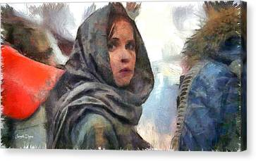 Hidden Face Canvas Print - Rogue One Dissimulation - Pa by Leonardo Digenio