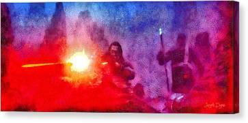 Rogue One Firing - Da Canvas Print by Leonardo Digenio