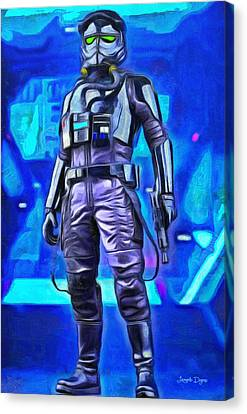 Rogue One Pilot - Pa Canvas Print by Leonardo Digenio