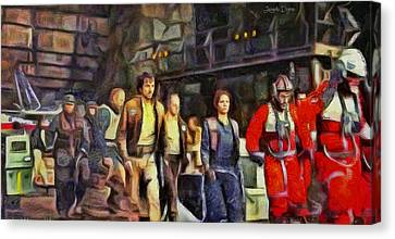 Rogue One Preparing To Fiight - Da Canvas Print by Leonardo Digenio