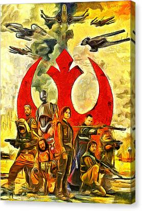 Rogue One Rebel Team - Da Canvas Print by Leonardo Digenio
