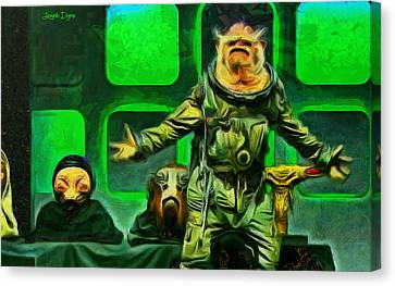 Rogue One Space Monkey - Pa Canvas Print by Leonardo Digenio