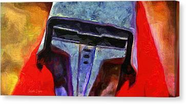 Rogue One Steel Helmet - Pa Canvas Print by Leonardo Digenio
