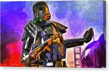 Rogue One Take The Granade - Da Canvas Print by Leonardo Digenio