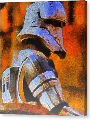 Armor Canvas Print - Rogue One Whitetrooper - Da by Leonardo Digenio