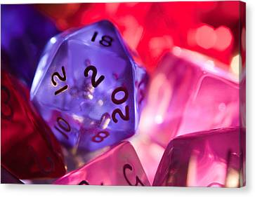 Role-playing D20 Dice Canvas Print by Marc Garrido