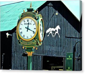 Rolex Clock Canvas Print by Bob Welch